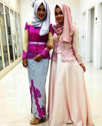 Model Kebaya Gamis Terbaru Untuk Pesta Wanita Muslim