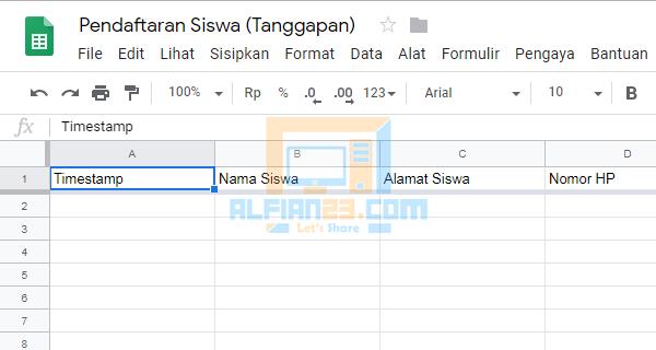Cara Menggabungkan Google Form dengan Spreadsheet Terbaru