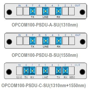 opcom1 - OPCOM100-PSDU - Mux/Demux pasivos para combinar uno o incluso dos servicios bidireccionales sobre una única fibra unidireccional