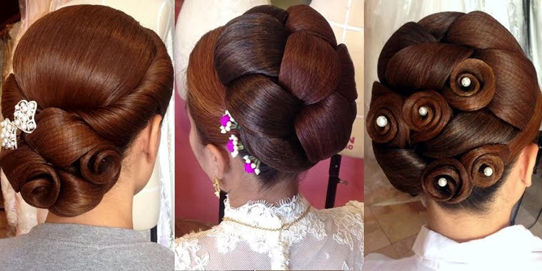 Strange Impressive Bridal Hairstyles By Danthep Thailand Short Hairstyles Gunalazisus