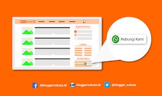 Cara Membuat Tombol Contact WhatsApp Melayang di Blogger