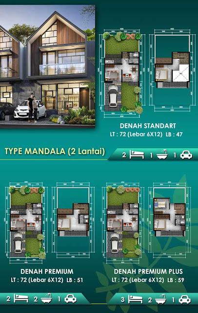 Type Mandala rumah 2 lantai di perumahan golden cikeas