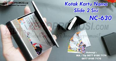 business card holder 2sisi, Jual Kotak Kartu Nama Murah, Jual Box Kartu Nama Murah, Box kartu nama kotak simpan kartu nama, Kotak Kartu Nama Slide 2 Sisi NC-630