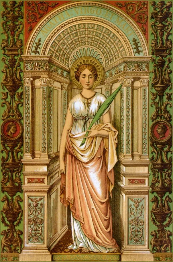 catholic single women in saint agatha Lucia of syracuse (283–304), also known as saint lucy or saint lucia (latin: sancta lucia), was a christian martyr who died during the diocletianic persecution she is venerated as a saint by the roman catholic , anglican , lutheran , and orthodox churches.