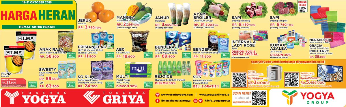 Yogya - Promo Katalog Harga Heran Periode 19 - 21 Oktober 2018