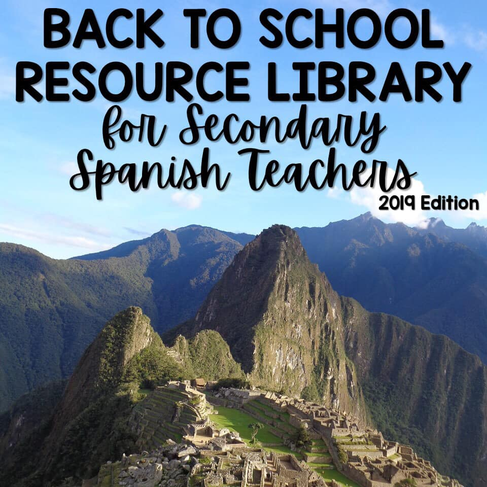Spanish Class Class Resource Library - 30 Free Resources for Spanish class, perfect for back to school - shared by Mis Clases Locas