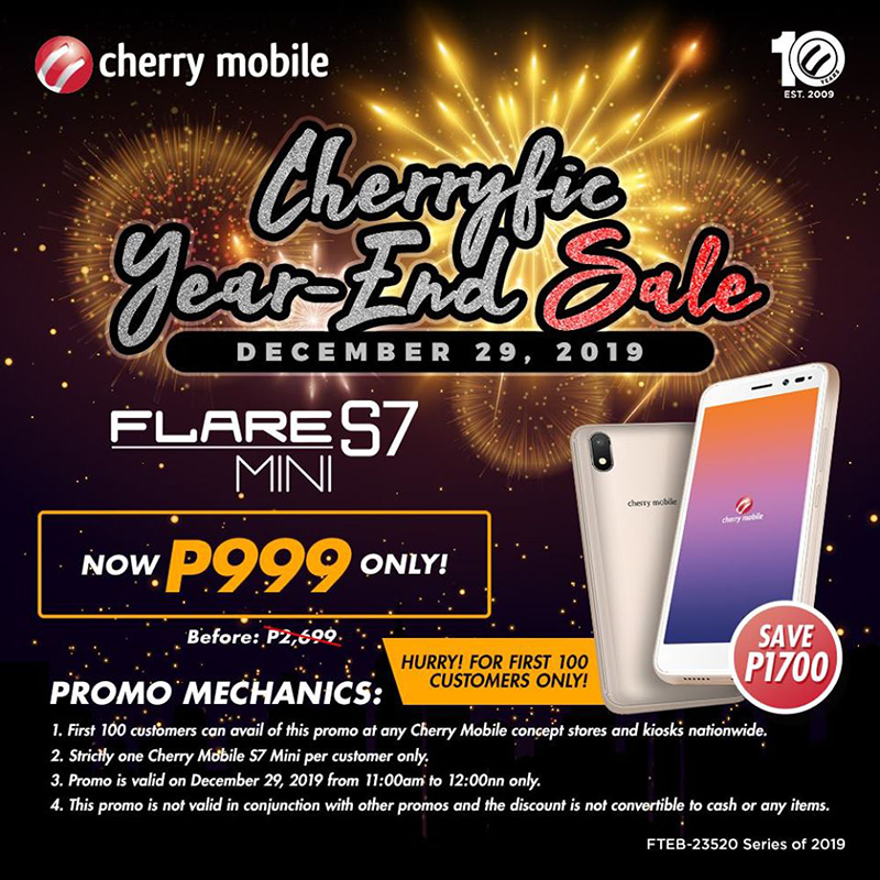 Sale Alert: Cherry Mobile announces Flare S7 Mini PHP 999 1-day sale!