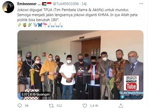 Beredar Video Tim Pembela Ulama Gugat Jokowi, Netizen: Semoga Lengser