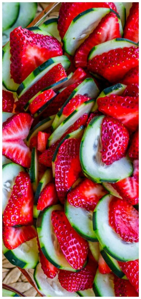 Strawberry Cucumber Salad with Honey Balsamic Dressing