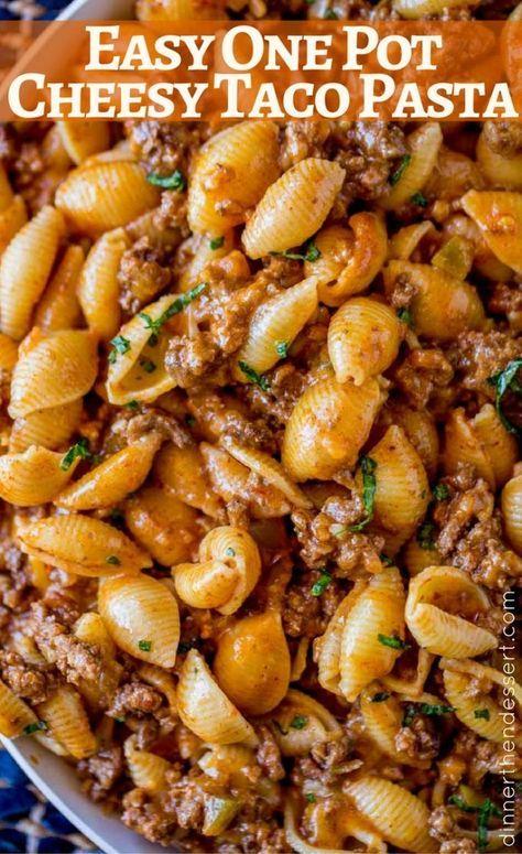 CHEESY TACO PASTA #Cheesy #Taco #Pasta #Pot #Easyrecipe #Easydinner #Healthydinner