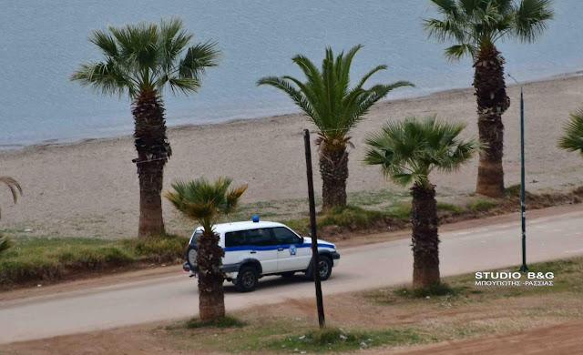 Περιπολίες αστυνομικών σε παραλίες στο Ναύπλιο - Απαγόρευαν βόλτες και κολύμπι
