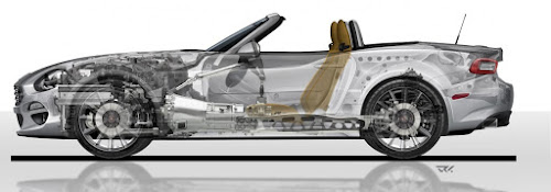124 Spider Chassis Side Xray