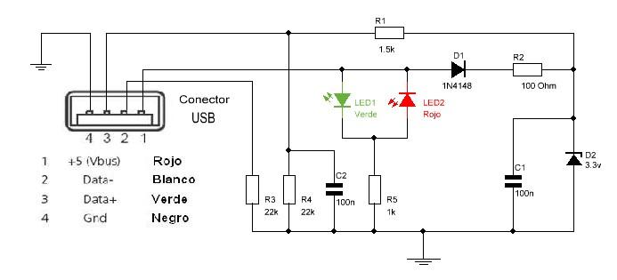 Circuito Usb : Probador de puerto usb kits electrónica y circuitos