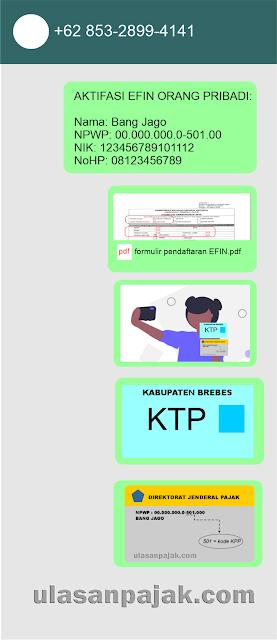 Tata Cara Pendaftaran EFIN lewat WA