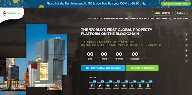 Dominium ico review by Blockchainnews