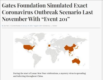 Gates Foundation simulated exact coronovirus outbreak