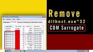 Step by step process Remove Dllhost.exe COM Surrogate Virus
