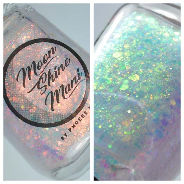 iridescent glitter nail polish topper