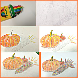 creating a masterpiece PUMPKIN DRAWING COLLAGE