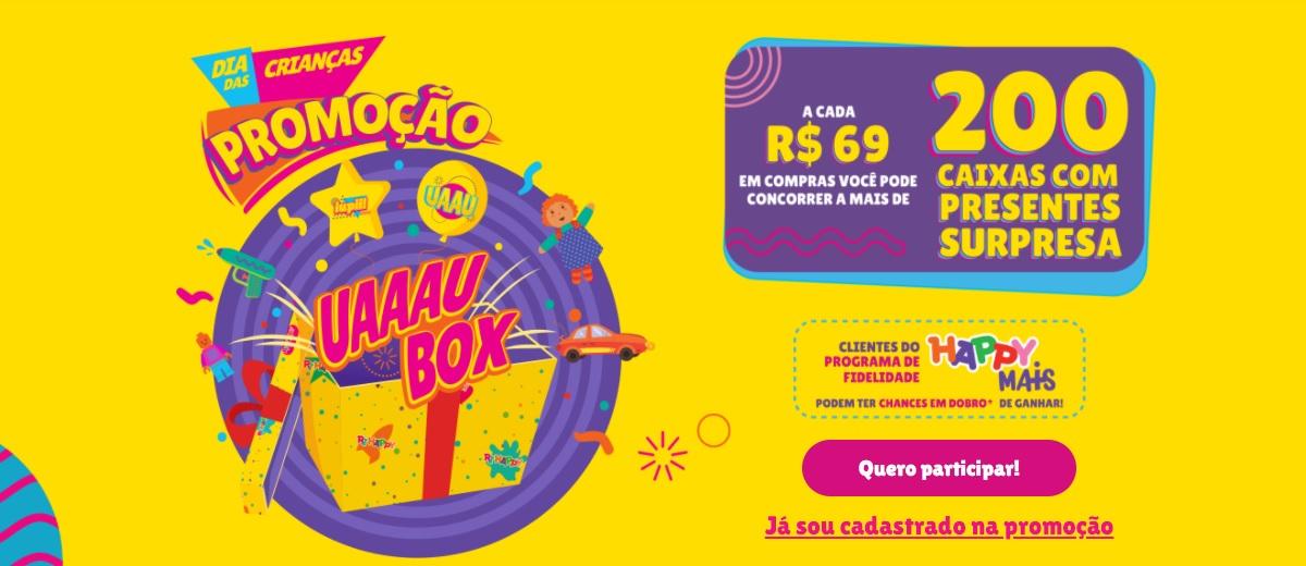 Dia das Crianças 2021 Ri Happy Promoção UAU BOX