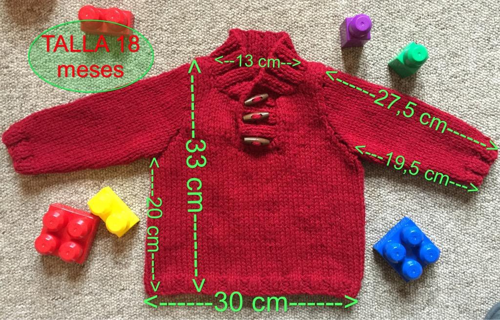 4286f8708 Jersey Eloy para Bebe talla 18 meses (English pattern at the end)