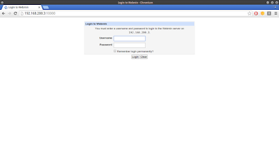 Kemudian akses lagi diweb browser dengan username root dan passwordnya sama dengan password root di CentOS