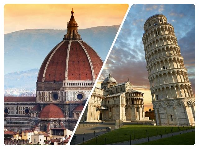 Como ir de Florencia a Pisa en tren autobús o excursión