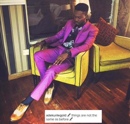 Things are not the same -  Adekunle Gold says as he shines in posh outfit