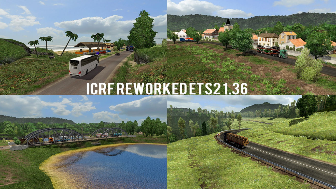 MAP ICRF Reworked MOD MAP ETS2 v1.36