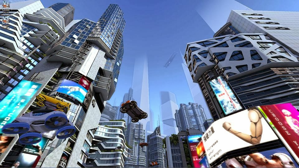 Free Software Download By Habib: Futuristic City 3D Screensaver