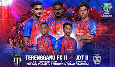 Live Streaming Terengganu II vs JDT II Challenge Cup 20.9.2019