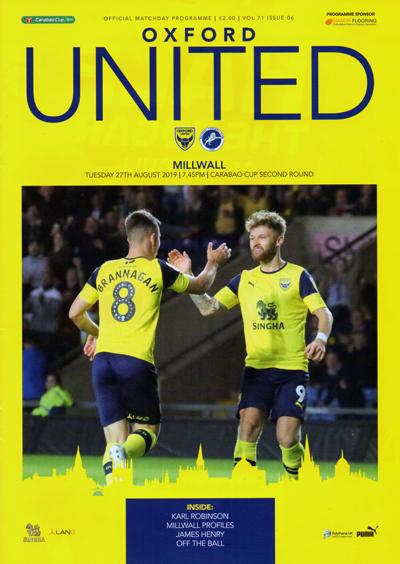 Oxford United FC 2019/20 season programme