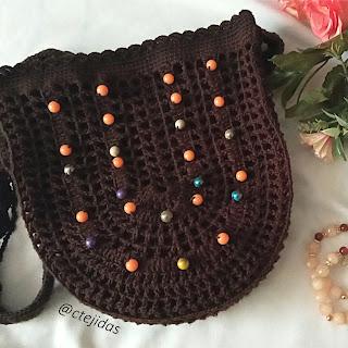 Bolso Mallas y Pepitas a Crochet