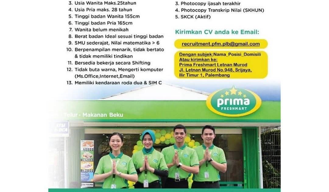 Get Loker Prima Freshmart 2021 Images