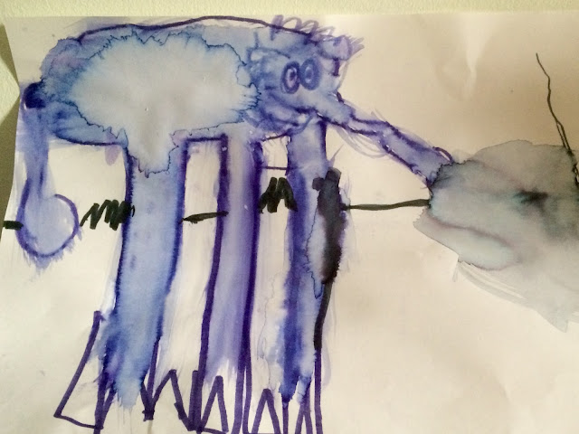 My Boys online art gallery blue elephant