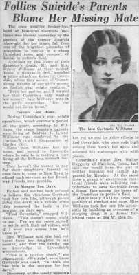 Gertrude Williams Suicide