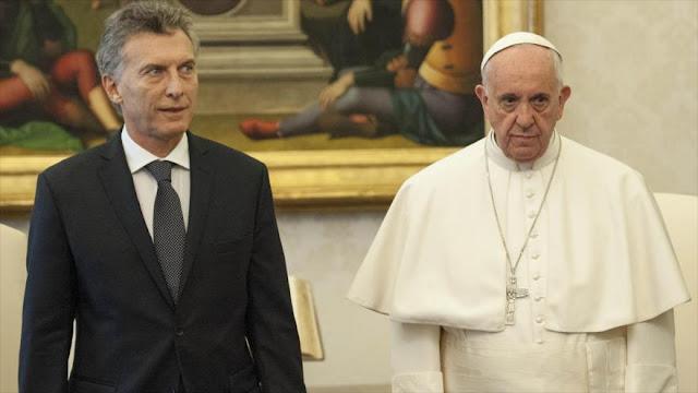 """Opositores de Macri: Papa está preocupado por Argentina """"desunida"""""""