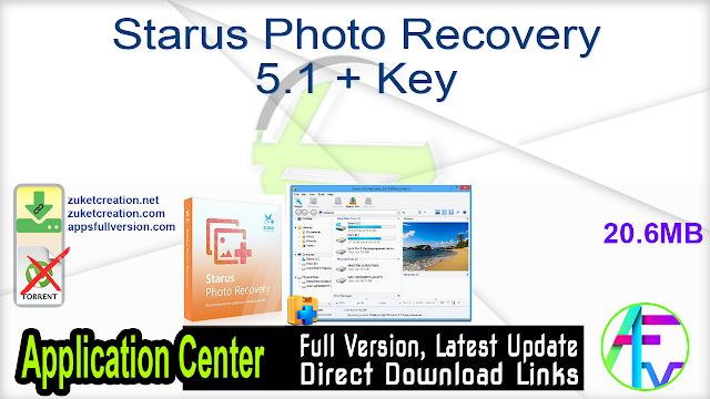 Starus Photo Recovery 5.1 + Key