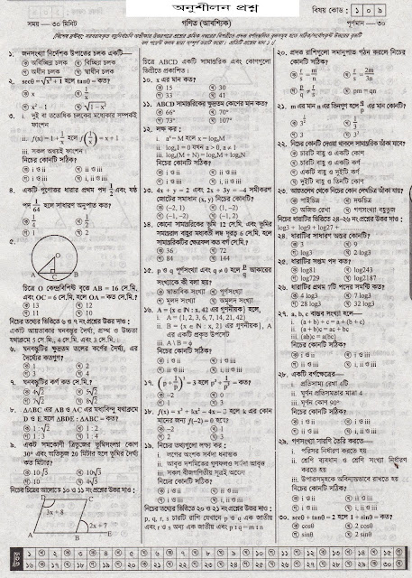 Math suggestion SSC exam 2017 with MCQ | Model Question No: 03