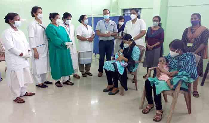 PCV vaccination started at Neeleswaram Taluk Hospital