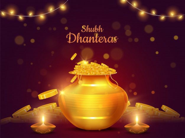 Happy Dhanteras wushes in english