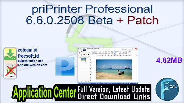 priPrinter Professional 6.6.0.2508 Beta + Patch_ ZcTeam.id
