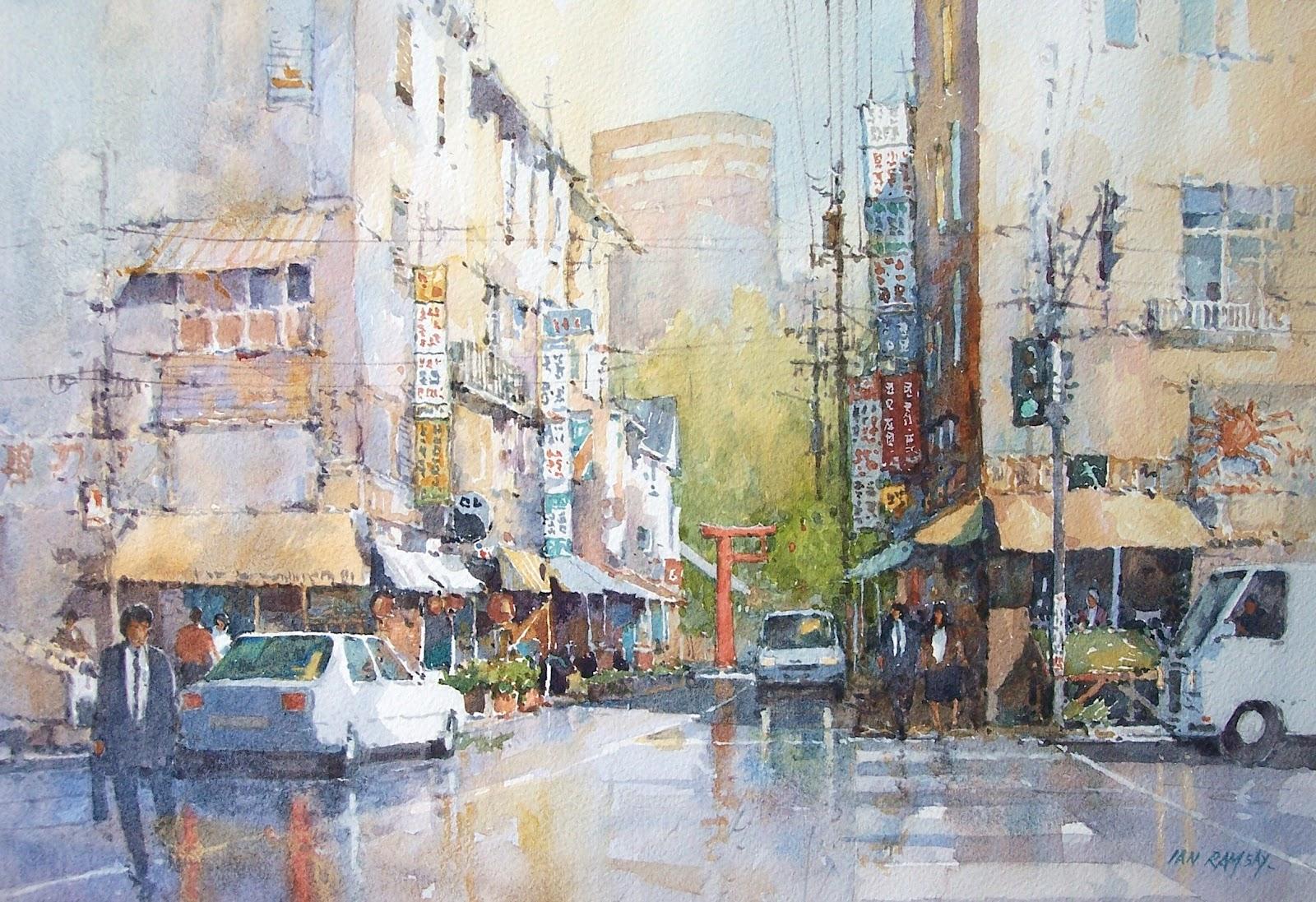 Ian ramsay watercolors april 2012 for Japanese watercolor paintings