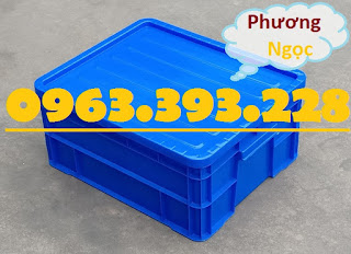 Sóng nhựa đặc B8, thùng nhựa đặc B8, hộp nhựa có nắp, thùng đựng linh kiện TNDB8