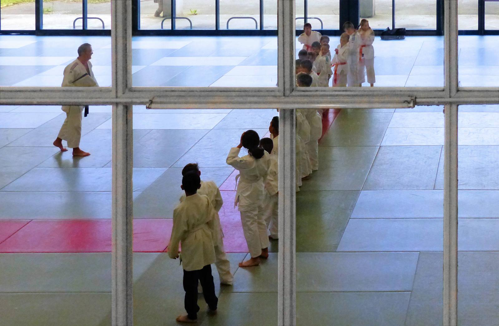 Entrainement au Judo dans la salle Wessels