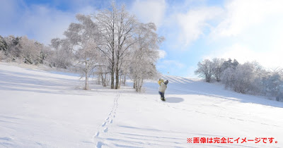 雪原のゴルフも格別です。(冗談です!)
