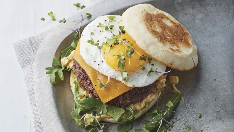 A Pan Burger With Fried Egg and Special Sauce Recipe