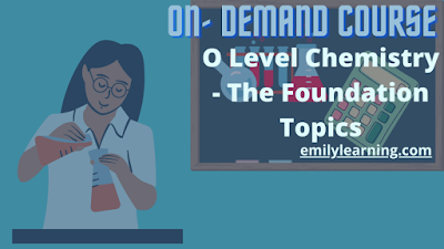 O Level Chemistry on- demand video course on chemical bonding, writing chemical formula, writing chemical equation, writing ionic equation, kinetic theory of particles