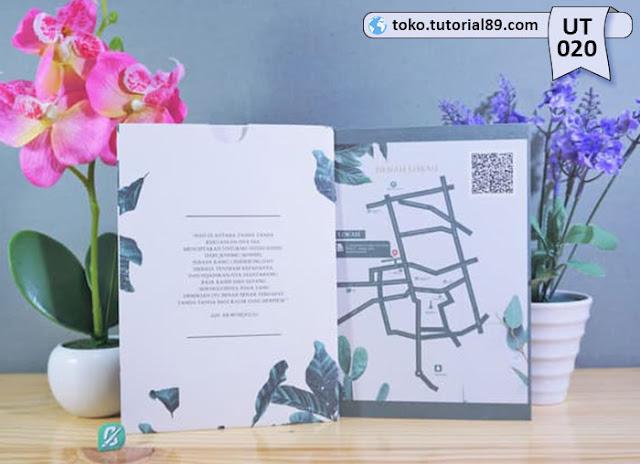 Undangan pernikahan UT020 - Lipat 2 dengan Amplop +free kartu ucapan terima kasih