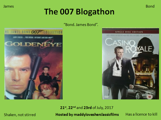 The 007 Blogathon -- July 21-23